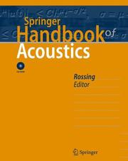 Cover of: Springer Handbook of Acoustics (Springer Handbook of) |