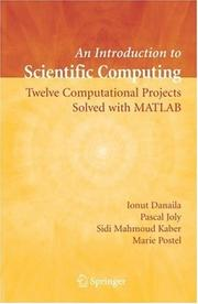 Cover of: An Introduction to Scientific Computing | Ionut Danaila