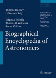 Cover of: The Biographical Encyclopedia of Astronomers |