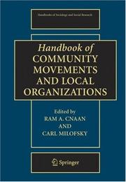 Cover of: Handbook of community movements and local organizations |