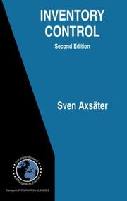Cover of: Inventory Control | Sven Axsäter