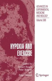 Cover of: Hypoxia and exercise |