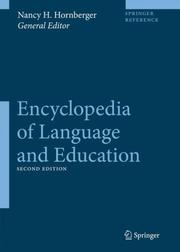 Cover of: Encyclopedia of Language and Education