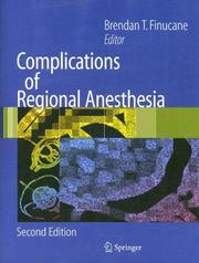 Cover of: Complications of Regional Anesthesia