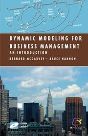 Cover of: Dynamic modeling for business management