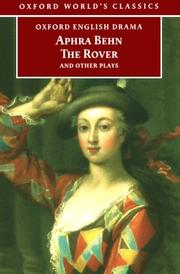 Cover of: The Rover and Other Plays