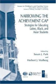 Cover of: Narrowing the achievement gap