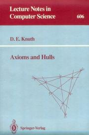Cover of: Axioms and hulls