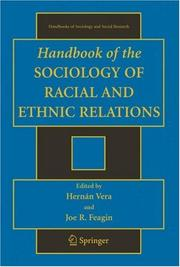 Cover of: Handbook of the Sociology of Racial and Ethnic Relations (Handbooks of Sociology and Social Research) (Handbooks of Sociology and Social Research)