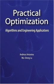 Cover of: Practical optimization by