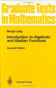 Cover of: Introduction to algebraic and abelian functions
