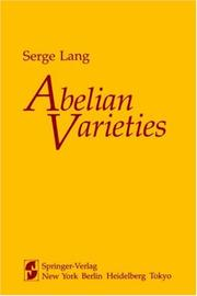 Cover of: Abelian varieties