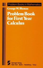 Cover of: Problem book for first year calculus