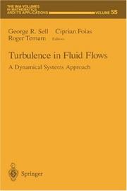 Cover of: Turbulence in fluid flows