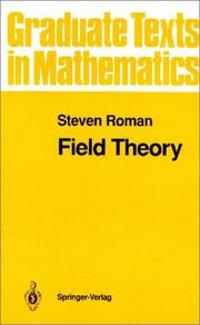 Cover of: Field theory