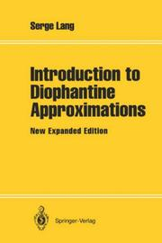 Cover of: Introduction to diophantine approximations