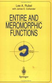 Entire and meromorphic functions by Lee A. Rubel