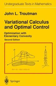Cover of: Variational Calculus and Optimal Control