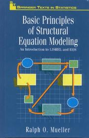 Cover of: Basic principles of structural equation modeling