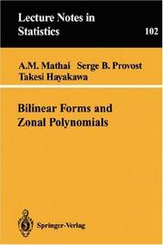 Bilinear forms and zonal polynomials by A. M. Mathai
