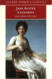 Cover of: Catharine: and Other Writings (Oxford World's Classics)