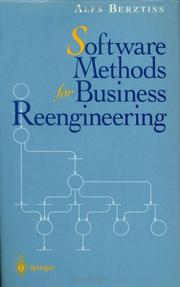 Cover of: Software methods for business reengineering