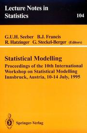 Cover of: Statistical modelling