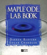 Maple O.D.E. lab book