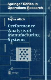 Cover of: Performance analysis of manufacturing systems