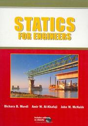 Cover of: Statics for engineere
