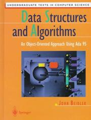 Cover of: Data structures and algorithms