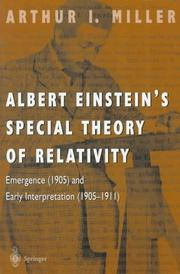 Cover of: Albert Einstein's special theory of relativity