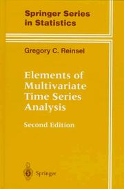 Cover of: Elements of multivariate time series analysis | Gregory C. Reinsel