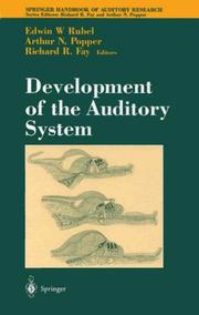 Cover of: Development of the auditory system |