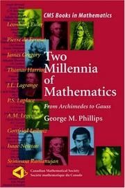 Cover of: Two Millennia of Mathematics