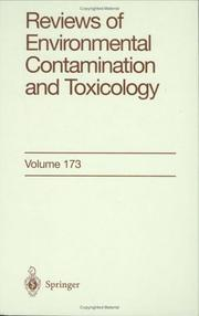 Cover of: Reviews of Environmental Contamination and Toxicology, Vol. 173 | George W. Ware