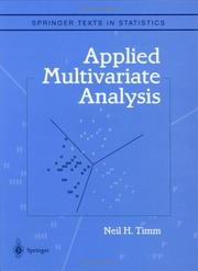 Cover of: Applied Multivariate Analysis