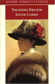 Cover of: Sister Carrie (Oxford World