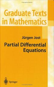 Cover of: Partial differential equations