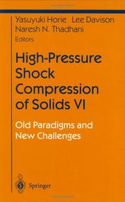 Cover of: High-Pressure Shock Compression of Solids VI (Shock Wave and High Pressure Phenomena) |