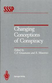 Cover of: Changing conceptions of conspiracy