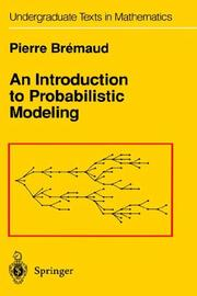 Cover of: An introduction to probabilistic modeling