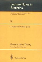 Cover of: Extreme value theory