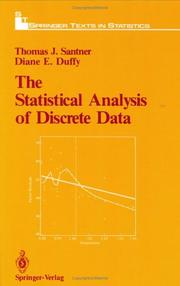 Cover of: statistical analysis of discrete data | Thomas J. Santner