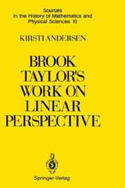 Cover of: Brook Taylor