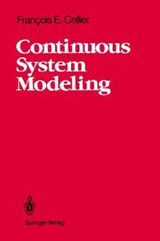 Cover of: Continuous system modeling | François E. Cellier