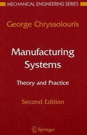 Cover of: Manufacturing systems | Chryssolouris, G.