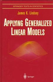 Cover of: Applying generalized linear models