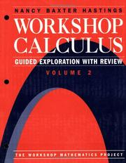 Cover of: Workshop Calculus | Nancy Baxter Hastings