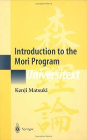 Cover of: Introduction to the Mori Program